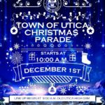 Town of Utica Christmas Parade with winter scene